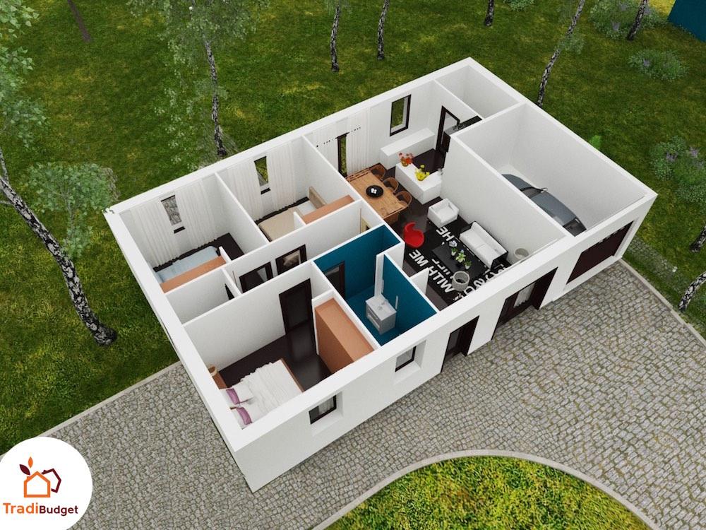 Saphir maison volutive petit prix for Site de construction de maison 3d