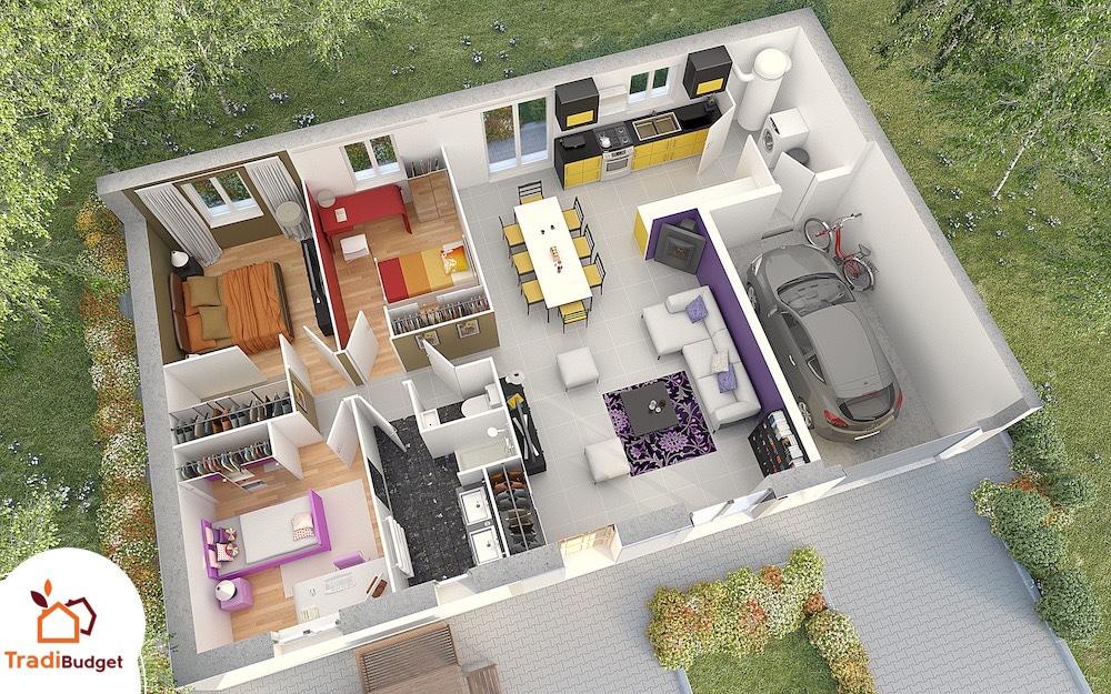 Modele Maison Styl Habitat JADE_AXO HD