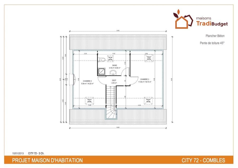 Plan  demeure city cosy 72 etage