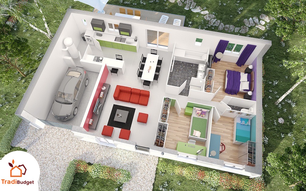 Plan de maison mod le opale for Modele maison simple