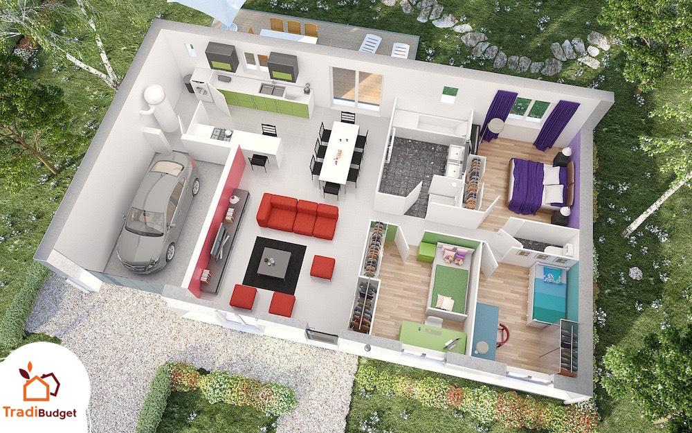 Tradibudget maison Modele Maison Styl Habitat Opale_AXO HD