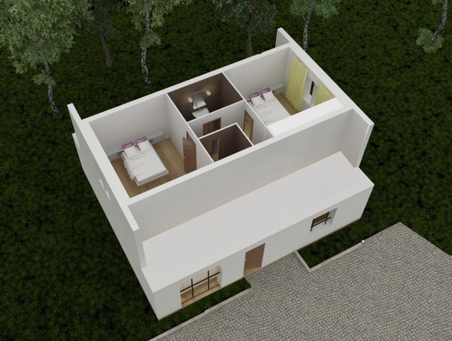 Tradibudget maison traditionnelle Axonometrie 3D maison agathe etaj