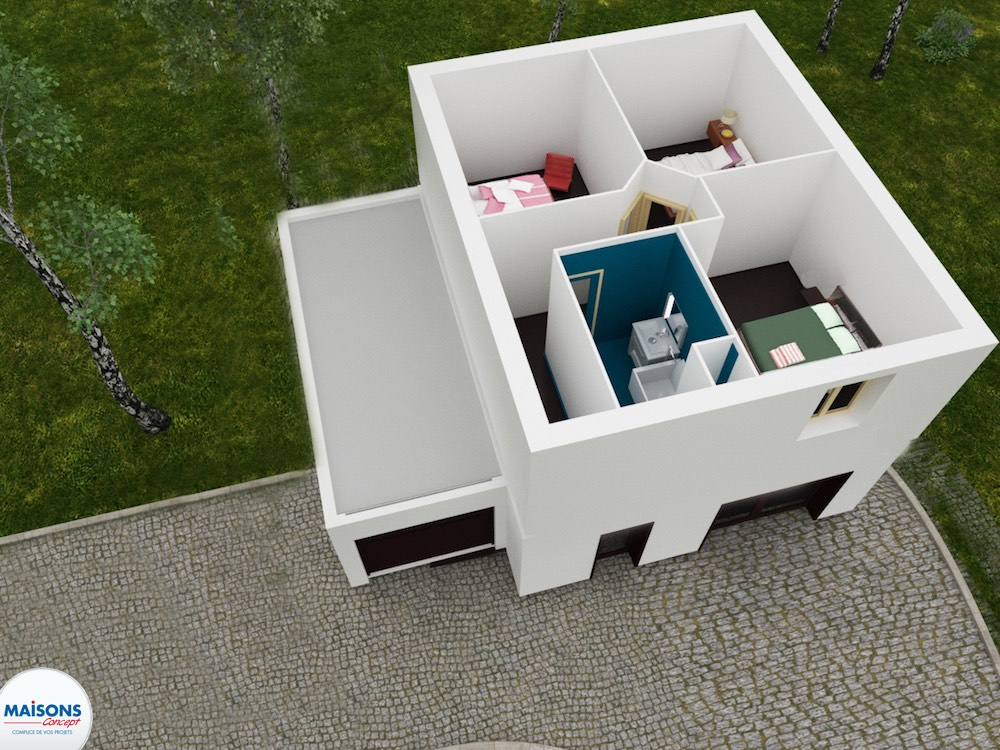 Tradibudget maison traditionnelle Plan 3D city 60 etage