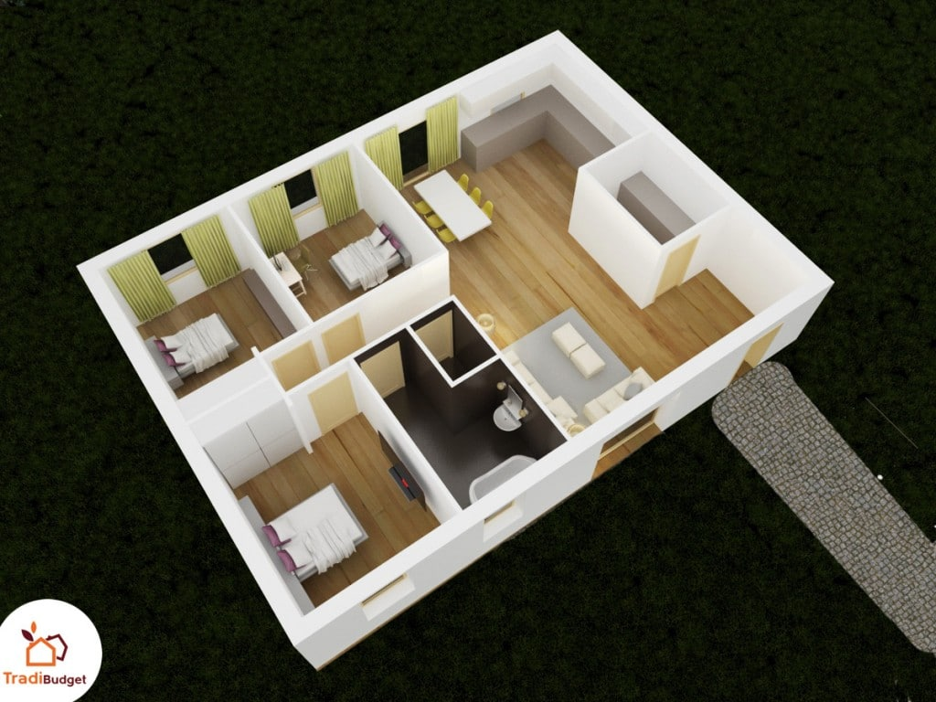 axonometrie 3D plan design 86